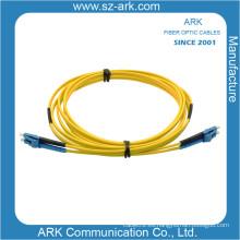LC / PC Singlmode Duplex Cable de fibra óptica