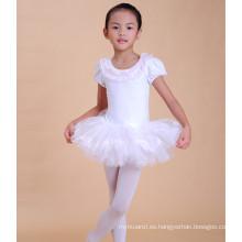 chica encantadora vestido de cisne vestido de patrón blanco vestido de tutú de ballet para saling