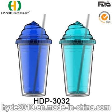 BPA personalizado parede dupla livre plástico gelado copo (HDP-3032)