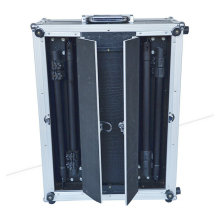 Abrir Duplo Make up Case Trolley PVC