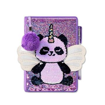 PANDACORN FLIP SEQUIN NOTEBOOK-0
