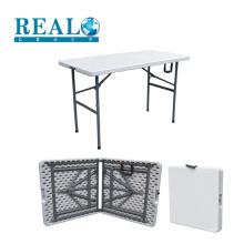 Fornecimento de fábrica baixo preço pequeno dobrável ao ar livre camping plástico mesa de armação de aço
