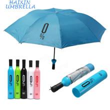 Door Gift Paraguas Personalizados Beautiful Printed Design Your Own Company Advertisement Logo Customize Umbrella Bottle