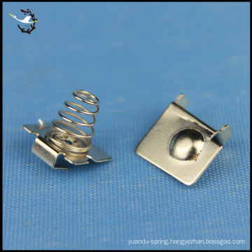 custom spring steel with nickel plated battery clips and contacts