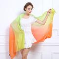 Moda feminina tie-tingido xale de lã de cor de gradiente (yky4518)