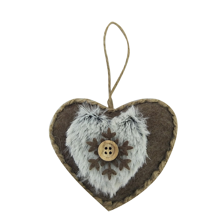 Winter Woodland Heart Hanging Pendant Decorations