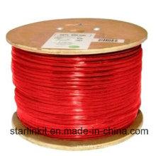 Câble Ethernet étendu STP blindé CAT6 à grande vitesse 305m Rouge