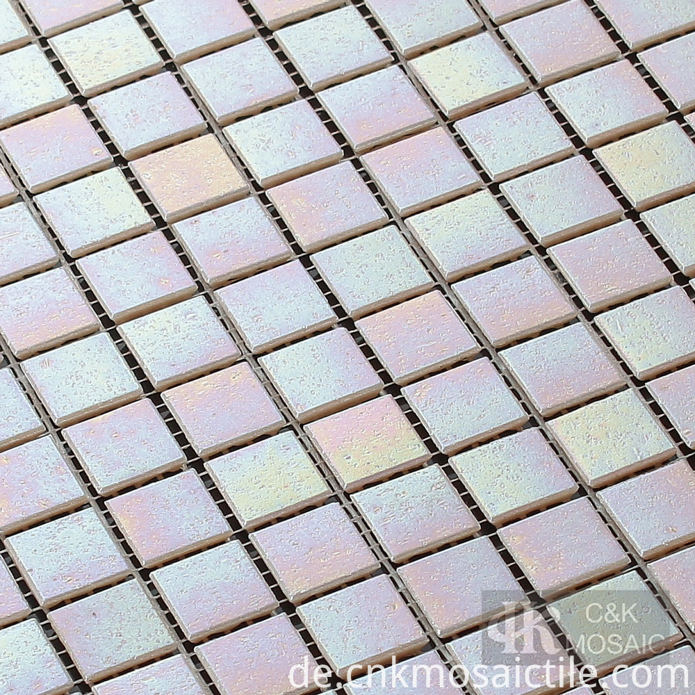 Pink Glass Mosaic Tile
