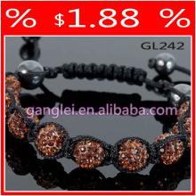 brown shamballa bracelet