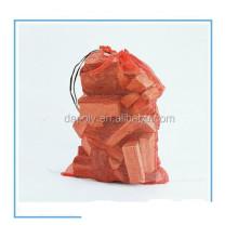 Plastic mesh bag for firewood firewood bags packaging firewood mesh bag
