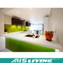 Puerta UV con gabinete de cocina de cuarzo para el apartamento (AIS-K191)