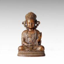 Buddha-Statue koreanische Avalokitesvara Bronze-Skulptur Tpfx-068