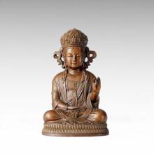 Buddha Statue Korean Avalokitesvara Bronze Sculpture Tpfx-068