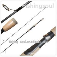 Equipamento ao ar livre SPR047, 1 seção, vara de pesca de giro do carbono