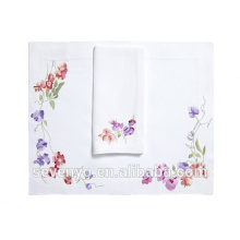 100% Baumwolle Terry Handtuch Schöne lila Colorpetals Muster Handtücher Ht-023
