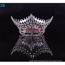 Fashion Zhanggong crystal baby hair accessories king's full round pageant crown