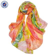 Colorful silk scarf wholesale wisdom flower high-end art cultural pure silk SWS233