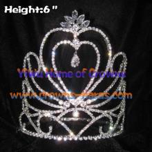 Heißer Verkauf herzförmige Crystal Pageant Kronen