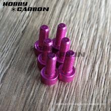 Hex cap head aluminum screw with colors