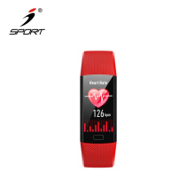 Bluetooth4.2 Single Touch Screen Blood Pressure and Blood Oxygen Saturation Measurement Smart Watch Band