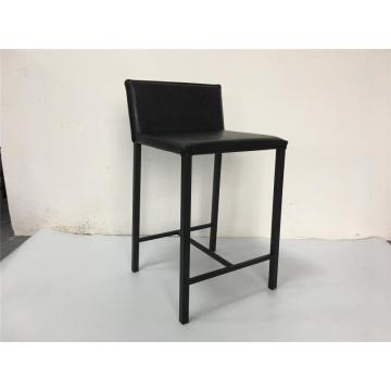 Black PU dining chair for leisure use