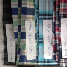 Tissu rayé en coton peigné teint dans la masse, T-shirt teint dans la masse, en coton