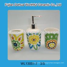 Accesorios de baño de colores, accesorios de baño de cerámica baratos conjunto