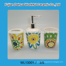 Colorful bathroom accessories,cheap ceramic bathroom accessories set