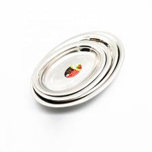 ovale Fischplatte des Nahrungsmittelgrads 16inch Metalledelstahl für Restaurant