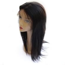 Virgin Cuticle Intact Natural Color Hair Straight Full Lace Wig Swiss lace midium brown