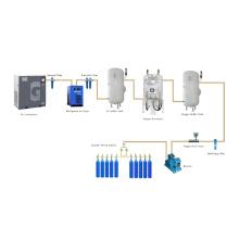 Système de remplissage de bouteilles d'oxygène sur site avec générateur d'oxygène PSA