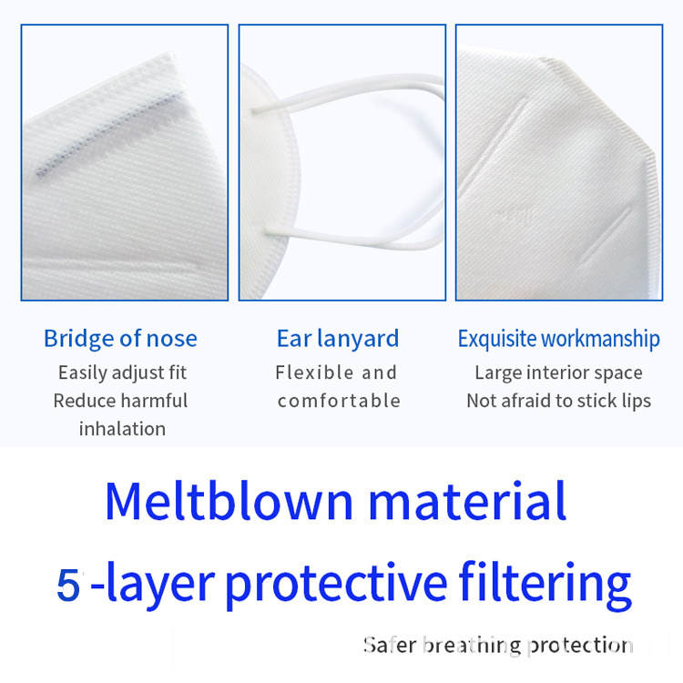 Breathable disposable kn95 medical mask