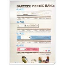 Einweg-Barcode des Krankenhauses bedruckte Bänder Patientenausweis