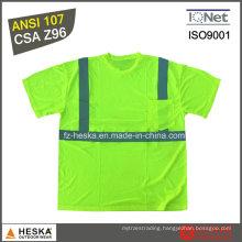 Mens Hi-Vis Round Neck Short Sleeve Reflective T Shirt