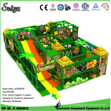 Customize Jungle Forest Design Kids Indoor Playground Toddler Play Area with Big Slide