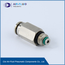 Air-Fluid Divider Valve Outlet Adapter with Push-in Style.