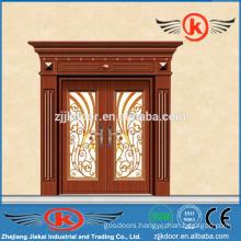 JK-C9042 china art painting carving copper art door mian door design