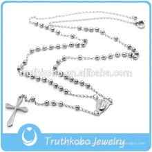 Preofesional Custom Design Collier Catholique En Acier Inoxydable Chapelet Religieux et Croix CRUCIFIX Collier De Bonne Qualité