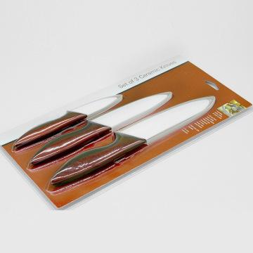 Conjunto de facas de cerâmica de 3 peças para barganhas exclusivas