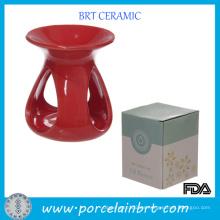 Regalos Ceramica Red Teadrop Aroma Burner