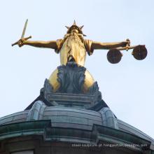 Projetos populares famosos tamanho da vida estátua da justiça senhora de bronze