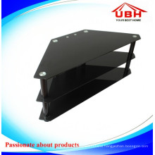 Tempered Glass/Aluminum Frame TV Cabinet/Glass TV Stand