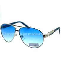Metal hombres gafas de sol con UV 400 protección de moda lente