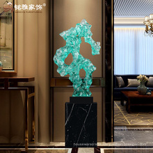 Wholesale home decor items transparent resin abstract sculpture for hotel lobby decoration