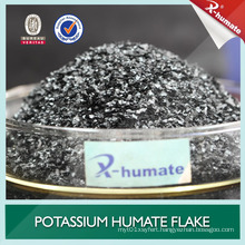 Best Humate Fertilizer From Natural Leonardite Refined Potassium Humate / Potassium Humate Flakes / Super Potassium Humate