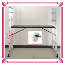 Échelle pliable en aluminium d'échafaudage EN131, échelle de plate-forme de fonctionnement, tour d'échelle