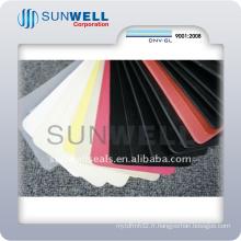Feuille de caoutchouc de fluorure de silicone de NBR Cr EPDM SBR toutes sortes de couleur (SUNWELL)