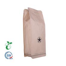 os sacos de empacotamento do café preto empacotam o costume inferior falt dos 1kg impresso com válvula de sentido único