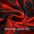 100% Cotton 3D Red Rose Printing Round Beach towel Tassels Blanket BT-380 China Factory