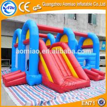 Outdoor / indoor inflável bouncer inflável obstáculo curso para crianças